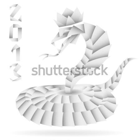 Carta origami serpente 2013 anno isolato Foto d'archivio © -TAlex-