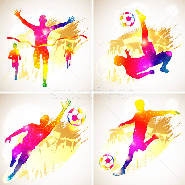 Soccer and Winner Silhouette Stock photo © -TAlex-