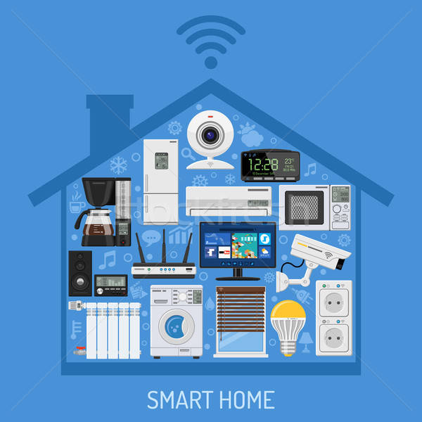 Smart Home and Internet of Things Concept Stock photo © -TAlex-