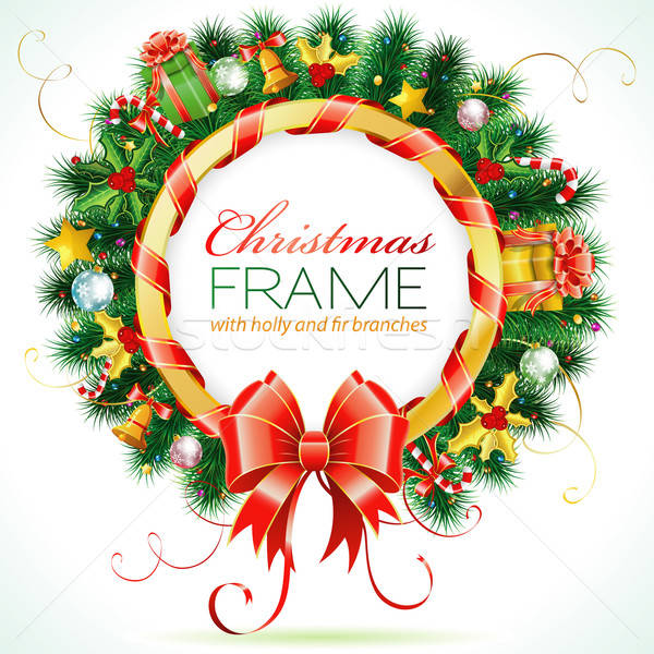 Christmas Wreath Stock photo © -TAlex-