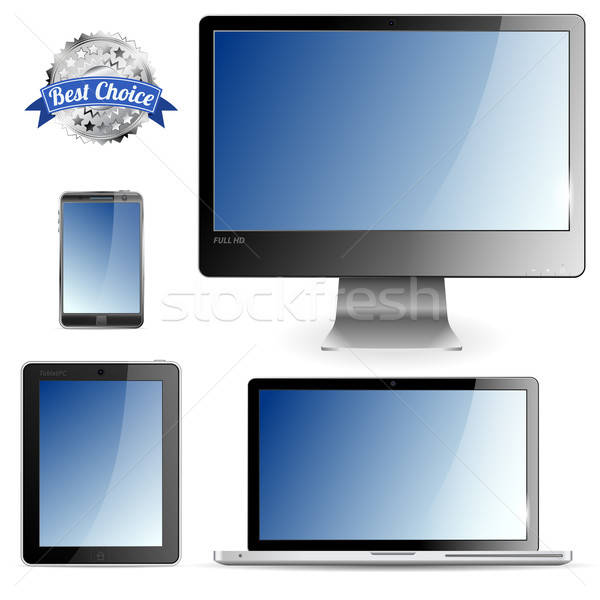 Computador dispositivos conjunto monitor laptop Foto stock © -TAlex-