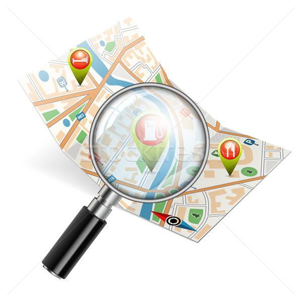 Navigasyon arama harita gps iş Stok fotoğraf © -TAlex-