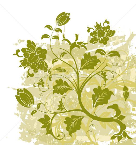 Abstrato floral caos grunge pintar elemento Foto stock © -TAlex-