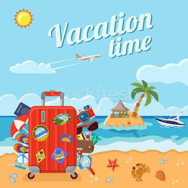 Vacanze turismo estate icone sito web Foto d'archivio © -TAlex-