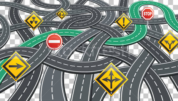 Road Infographics with Signposts Stock photo © -TAlex-