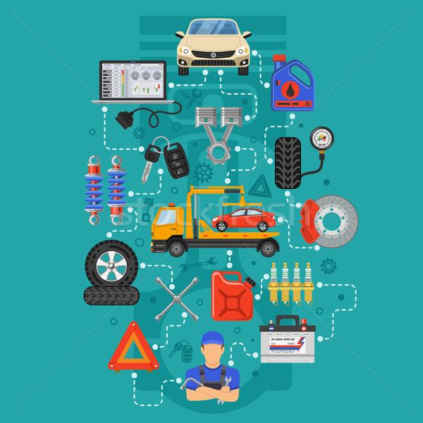 Car Service Infographics Stock photo © -TAlex-