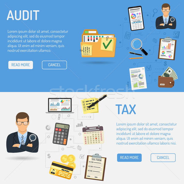 Auditing, Tax process, Accounting Banners Stock photo © -TAlex-