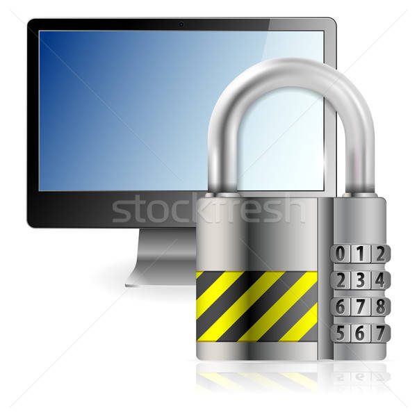 Safe Computer Concept Stock photo © -TAlex-