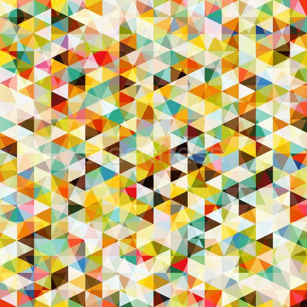 Streszczenie mozaiki wzór retro kolory wektora Zdjęcia stock © -TAlex-