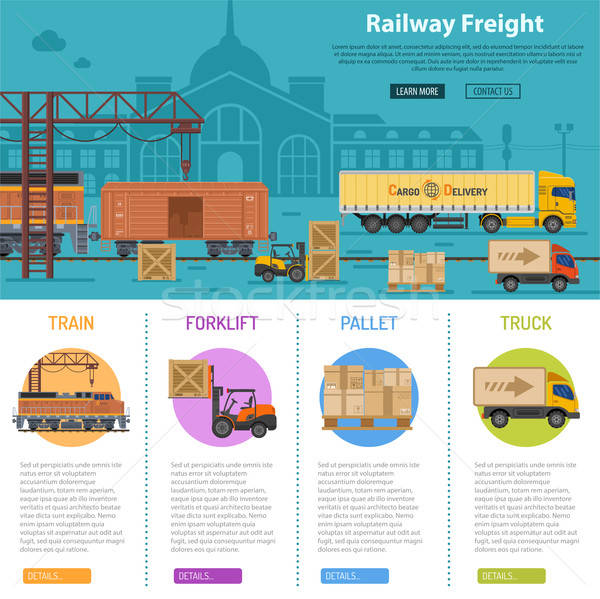 Railway Freight infographics Stock photo © -TAlex-