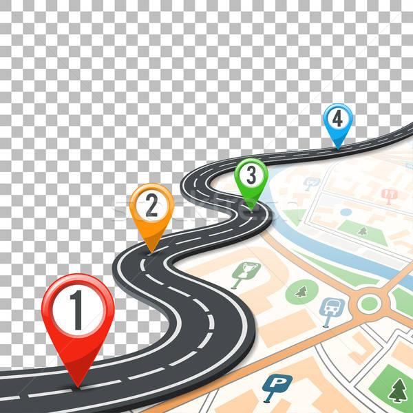 Idővonal út infografika tő üzlet térkép Stock fotó © -TAlex-