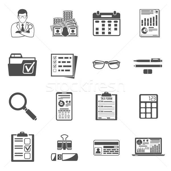 Auditing, Tax, Accounting icons set Stock photo © -TAlex-