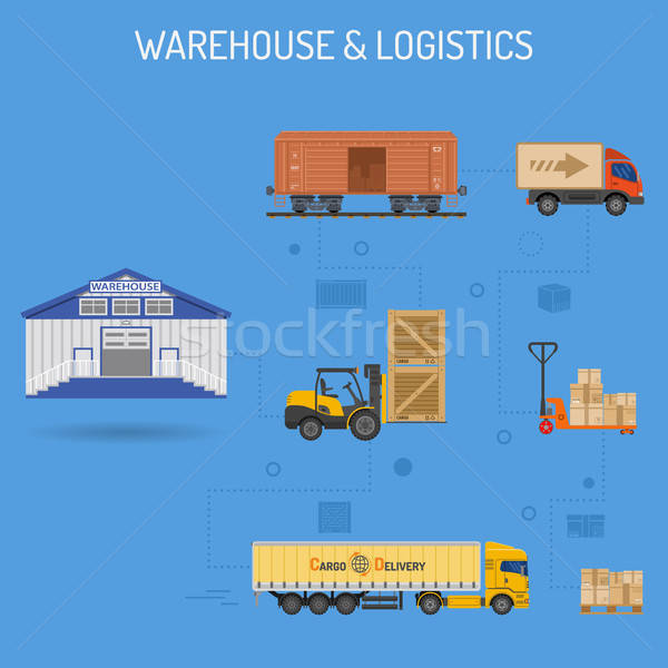 Warehouse and Logistics Banner Stock photo © -TAlex-
