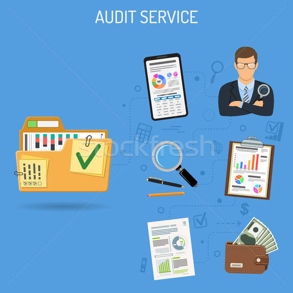Auditing and Accounting Banner Stock photo © -TAlex-