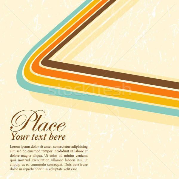 Retro grunge stripe design sfondo arte Foto d'archivio © -TAlex-