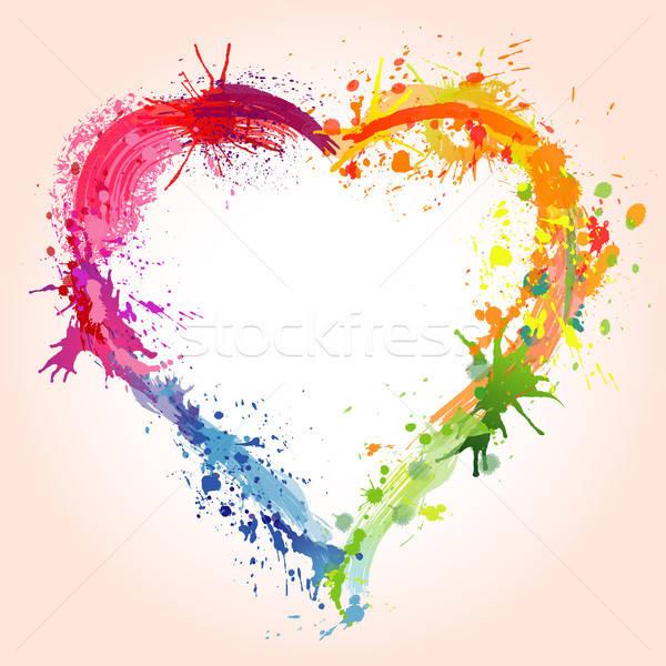 Kalp grunge sevgililer günü dizayn mutlu Stok fotoğraf © -TAlex-