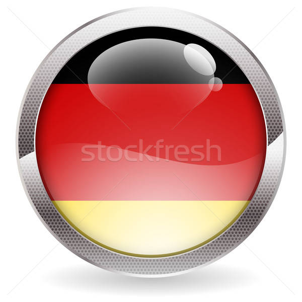 Gloss Button with German Flag Stock photo © -TAlex-