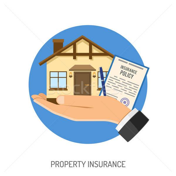 Insurance Flat Icons Stock photo © -TAlex-
