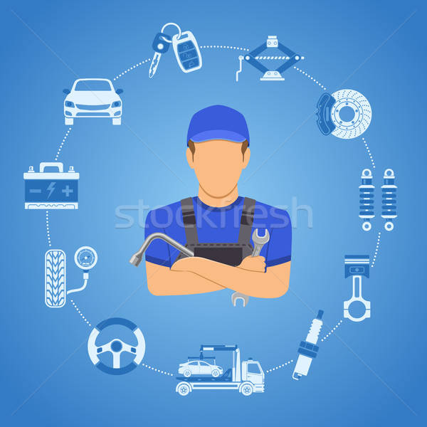 Car Services Concept Stock photo © -TAlex-