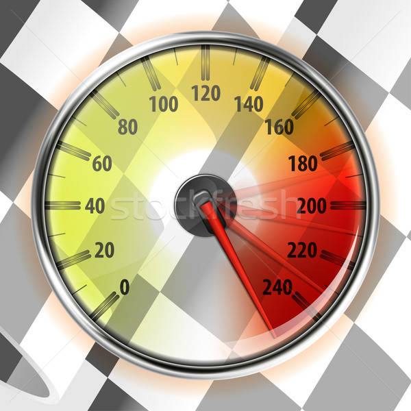 Speedometer with Flag Stock photo © -TAlex-