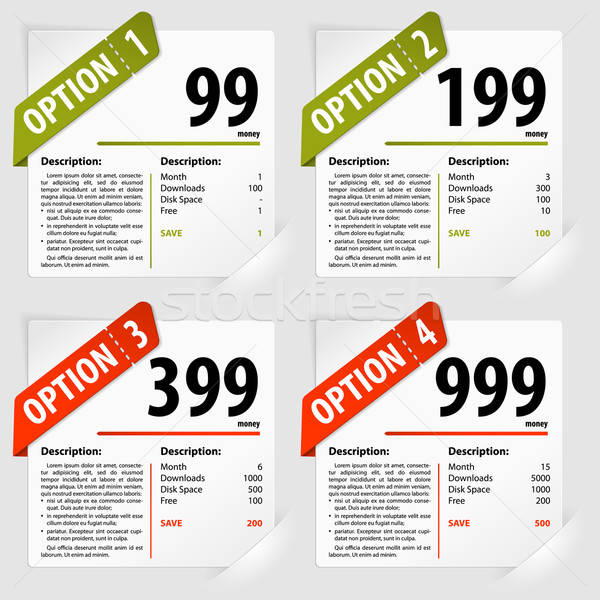 Opties frames vier abonnement papier business Stockfoto © -TAlex-
