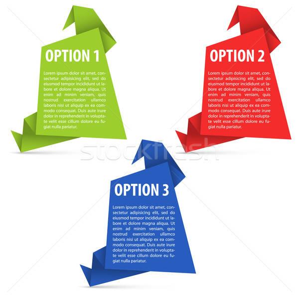 Options Paper Origami Stock photo © -TAlex-