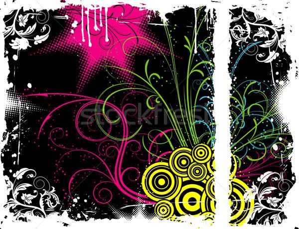 Soyut kaos grunge boya Stok fotoğraf © -TAlex-