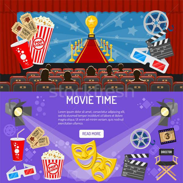 Cinema and Movie horizontal banners Stock photo © -TAlex-