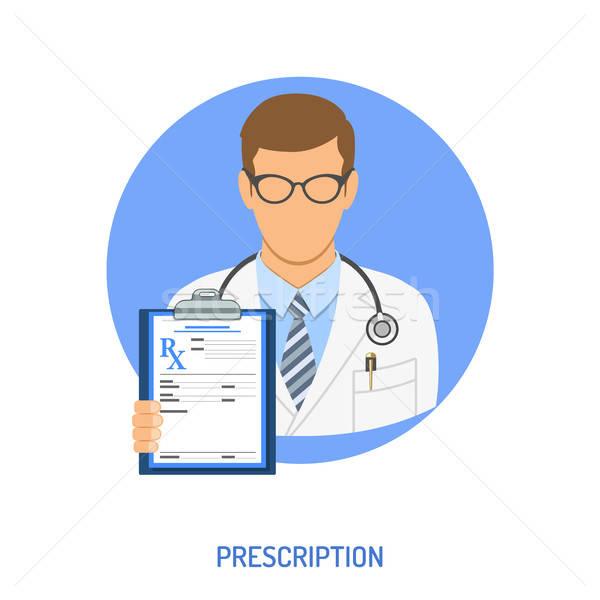 Tıbbi reçete doktor simgeler yalıtılmış Stok fotoğraf © -TAlex-