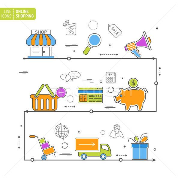 Online Shopping Process Stock photo © -TAlex-