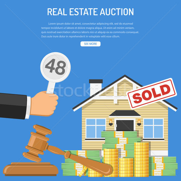 Sale real estate at auction Stock photo © -TAlex-