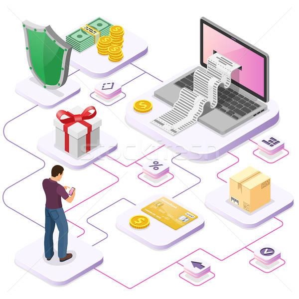 インターネットショッピング を ノートパソコン 領収書 お金 ユーザー ストックフォト © -TAlex-