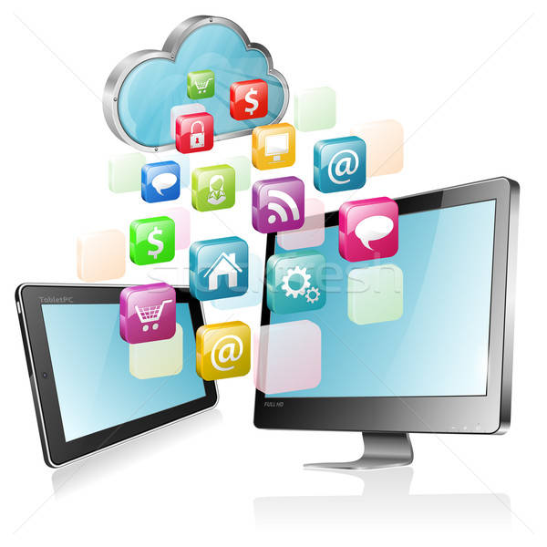 Cloud Computing Concept Stock photo © -TAlex-