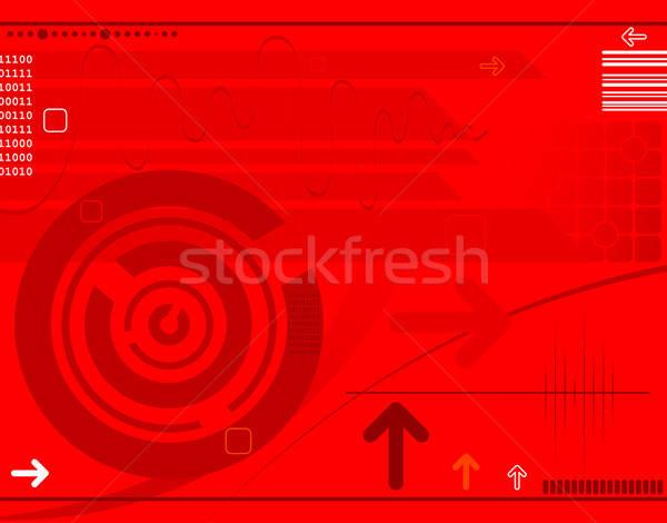 Absztrakt techno nyilak alkotóelem terv háttér Stock fotó © -TAlex-