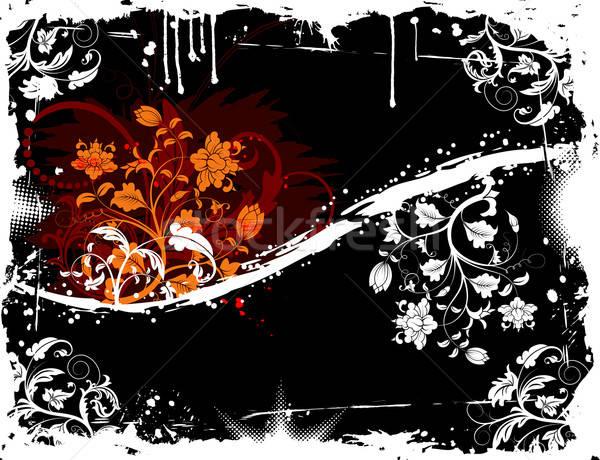 グランジ フローラル 混沌 塗料 デザイン ストックフォト © -TAlex-