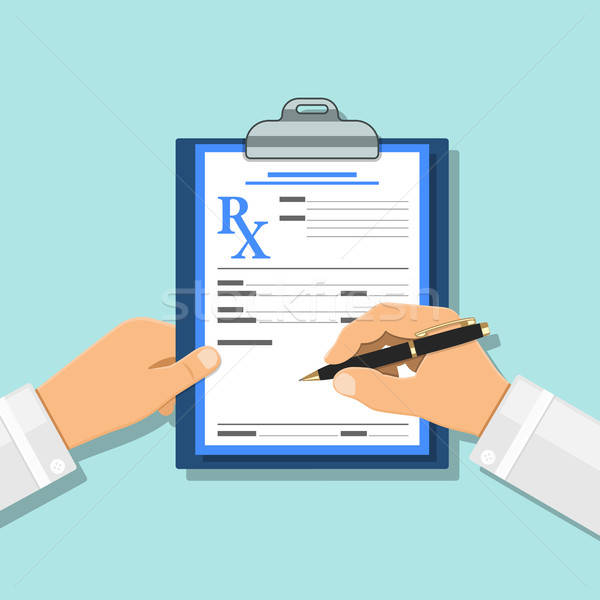 Médico prescrição rx forma médico caneta Foto stock © -TAlex-