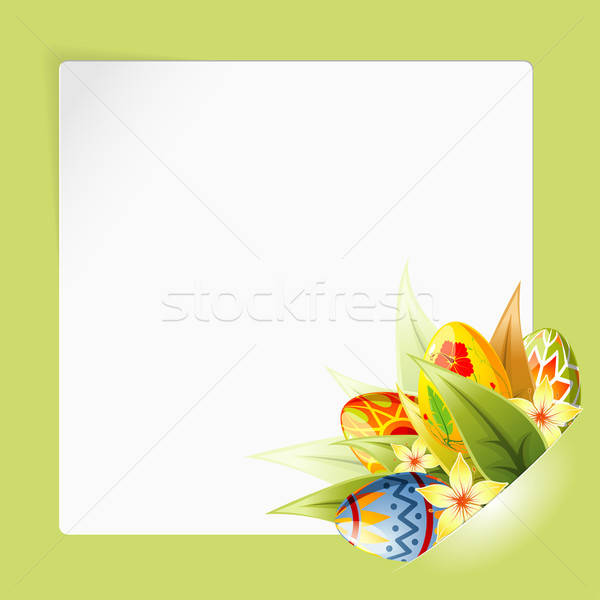 Easter Frame with Sheet Paper mounted in pocket Stock photo © -TAlex-