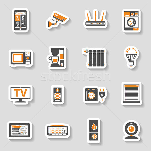Inteligente casa internet coisas adesivo Foto stock © -TAlex-