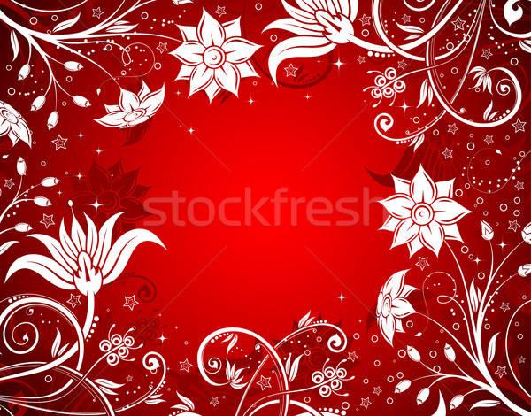 Virágmintás virág alkotóelem terv textúra absztrakt Stock fotó © -TAlex-