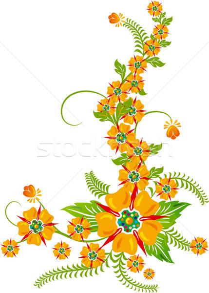 Background flower, elements for design, illustration Stock photo © -TAlex-