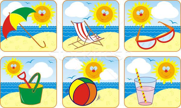 Icon Set Summer & Sun Stock photo © -TAlex-