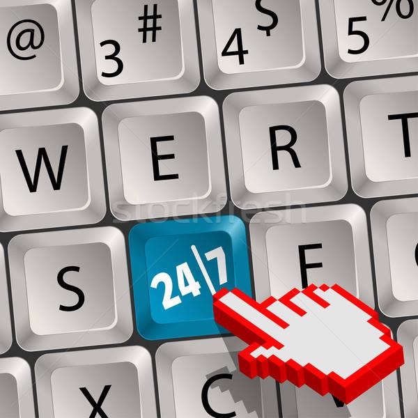 コンピュータのキーボード キー 20 4 7 ピクセル ストックフォト © -TAlex-