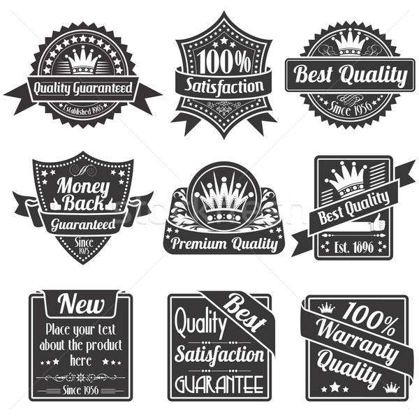 Stock photo: Quality and Guarantee Labels