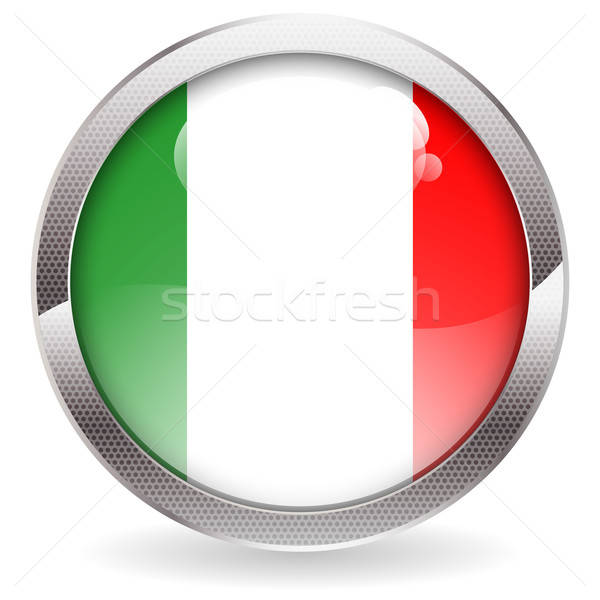 Gloss Button with Italy Flag Stock photo © -TAlex-
