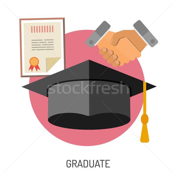 Oktatás ikon gyűjtemény szórólap poszter weboldal ahogy Stock fotó © -TAlex-