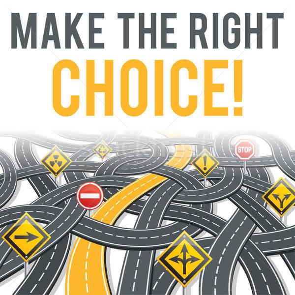 Yol infographics iş seçilmiş yol stil Stok fotoğraf © -TAlex-
