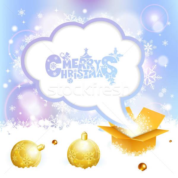 Christmas Speech Bubble Stock photo © -TAlex-
