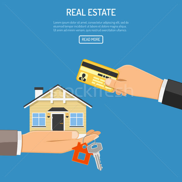 buy rent real estate Stock photo © -TAlex-