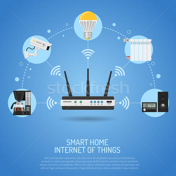 Smart Home and Internet of Things Stock photo © -TAlex-