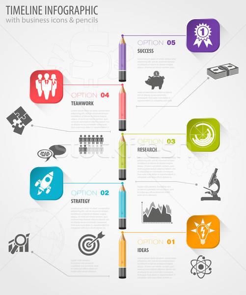 Timeline Infographic Stock photo © -TAlex-